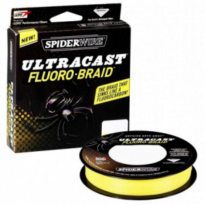 Плетеный шнур Spiderwire Ultracast Fluorobraid Yellow 110m 0.10mm 6.119kg