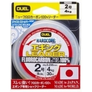 Леска Duel Hardcore Leader Fluorocarbon 100% 30yds 8lbs (0.235mm)