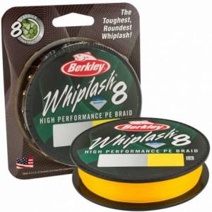 Плетеный шнур Berkley Whiplash 8 Yellow 150m 0.10mm 14.8kg