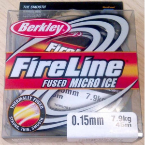 Плетеный шнур Berkley Fireline Micro Ice Smoke 45m 0.20mm 13.2kg
