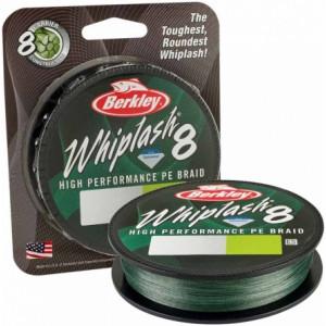 Плетеный шнур Berkley Whiplash 8 Green 150m 0.28mm 47.1kg