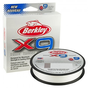 Плетеный шнур Berkley X9 Braid Crystal 150m 0.30mm 31.5kg