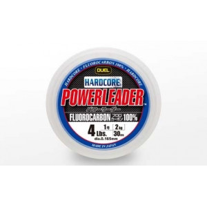 Леска Duel Hardcore Powerleader FC Fluorocarbon 100% 50m 30lbs/13kg (0.470mm)