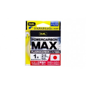 Леска Duel Powercarbon MAX Fluorocarbon 100% 50m #1.25 3.0kg (0.190mm)