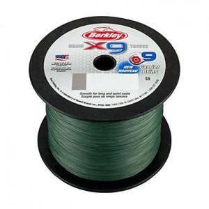 Плетеный шнур Berkley X9 Braid Low Vis Green 2000m 0.12mm 12.1kg