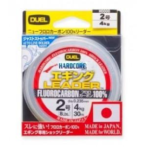Леска Duel Hardcore Leader Fluorocarbon 100% 30yds 6lbs (0.205mm)