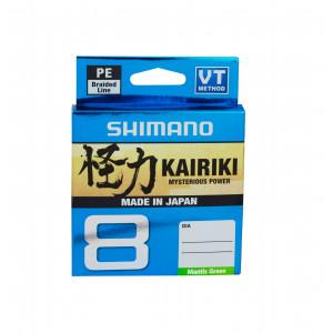 Леска плетёная Shimano Kairiki 8 PE 150м зеленая 0.28mm 29kg